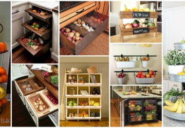 16 DIY Produce Storage Solutions for Fresh Fruit and Veggies - Outdoor DIY Storage Ideas, DIY Storage Ideas, diy storage baskets, diy storage, DIY Produce Storage Solutions for Fresh Fruit and Veggies