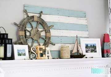 Coastal Feel: 15 DIY Beach Decor Projects - DIY Home Decor Projects, diy home decor, Beach Dining Room, beach bedroom decor