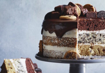 16 Creative and Tasty Layered Cookie Cake Recipes and Ideas - Layered Cookie Cake, cupcake, Cookie Cake, cake recipes, cake