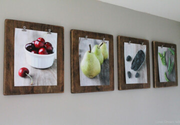20 DIY Picture Frame Ideas For Personalized Home Decor - Picture Frame Ideas, frame, DIY Picture Frame Ideas, DIY Picture Frame, DIY Photo and Picture Frame, DIY Frame, chic photo frame project