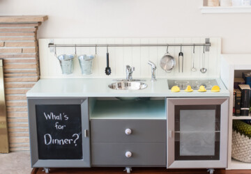 15 Great Diy Play Kitchen Ideas and Tutorials - DIY Toys Ideas, Diy Play Kitchen Ideas, Diy Play, diy kids crafts, Crafts For Kids