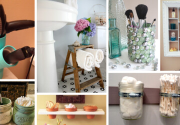 18 Great DIY Bathroom Storage Hacks and Organization Solutions (Part 1) - diy storage, diy organization projects, DIY Organization Ideas, diy organization hacks, DIY Bathroom Storage ideas, diy bathroom storage, DIY Bathroom