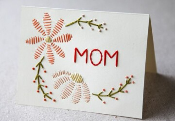 Kids Crafts: 17 DIY Mother's Day Cards - DIY Mother's Day Gift Ideas, DIY Mother's Day Gift, DIY Mother's Day Cards, diy kids crafts, diy cards, DIY Card