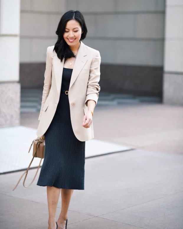 15 Lovely Midi Dress Outfit Ideas