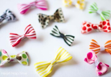 DIY Kids Fashion Project: 20 Cute and Easy To Make Hair Bows - Hair Bows, diy kids fashion, diy kids crafts, DIY Hair Bows, diy fashion projects, DIY Fashion