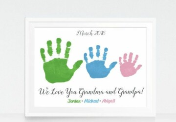 15 Creative Handprint and Footprint Art Gifts and Decorations - Handprint Art Gifts, Handprint Art, Handprint and Footprint Art Gifts, Footprint Art Gifts