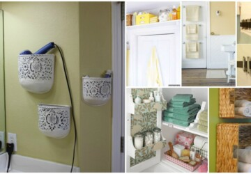 18 Great DIY Bathroom Storage Hacks and Organization Solutions (Part 2) - DIY Storage Ideas, DIY Bathroom Storage ideas, diy bathroom storage, DIY Bathroom