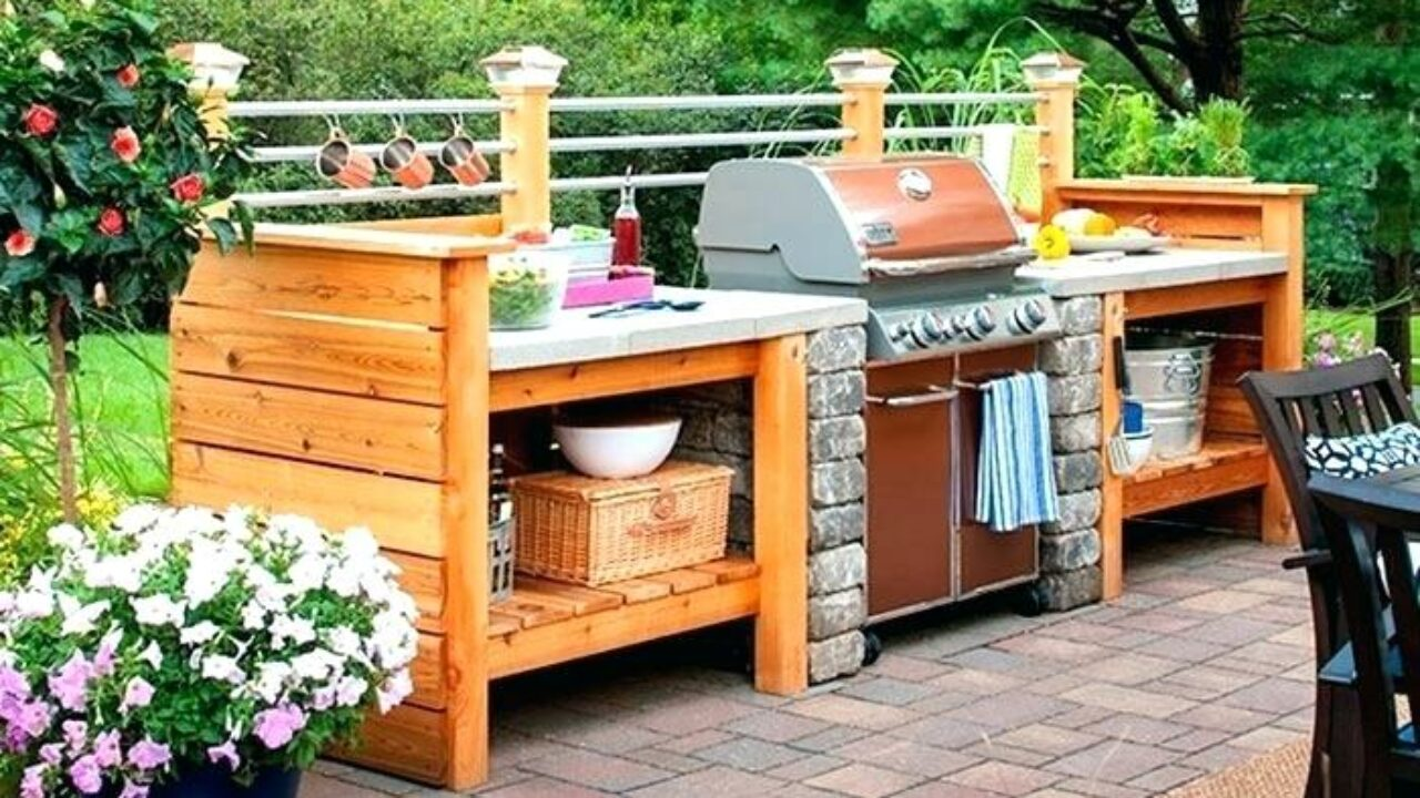 Astounding Diy Outdoor Kitchens And Grilling Stations Style Motivation Beutiful Home Inspiration Semekurdistantinfo
