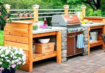 DIY Outdoor Kitchens and Grilling Stations - Grilling Stations, DIY Outdoor Kitchen, diy outdoor, diy kitchen, diy Grilling