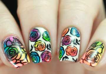 14 Fabulously Floral Nail Art Designs for Summer (Part 2) - summer floral nail art, neon summer nail art, floral nail art