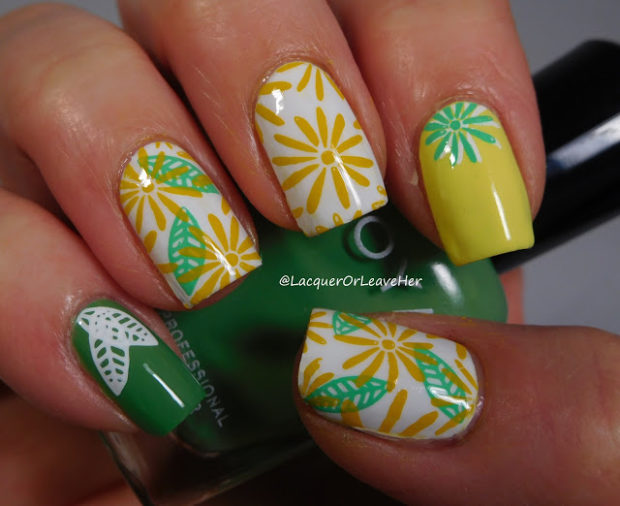 14 Fabulously Floral Nail Art Designs for Summer (Part 1) - summer nail art, summer floral nail art