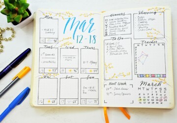 17 Bullet Journal Ideas - DIY planners, DIY planner, DIY Organization Ideas, Bullet Journal Ideas, Bullet Journal