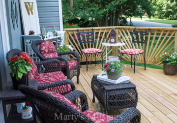 15 DIY Ideas to Dress Up Your Deck for Summer - diy outdoor furniture, diy outdoor, diy deck ideas, deck design ideas, deck design