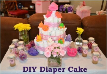Baby Shower Gifts: 13 DIY Adorable Diaper Cake Ideas - DIY Diaper Cake Ideas, DIY Adorable Diaper Cake Ideas, Diaper Cake Ideas, Baby Shower Ideas, baby shower favors, baby shower