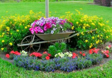 15 DIY Wheelbarrow Repurposing Ideas - Wheelbarrow, DIY Wheelbarrow Repurposing Ideas, DIY Wheelbarrow Ideas, DIY Repurposing Ideas