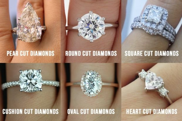 Know About Several Diamond Cut Types - triangle cut, shape, round cut, radiant cut, princess cut, pear cut, oval cut, marquise cut, jewelry, half moon cut, emerald cut, diamond, cut types, cushion cut, asscher cut