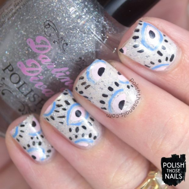 Cute Summer Nail Art Ideas with White Details (Part 2)