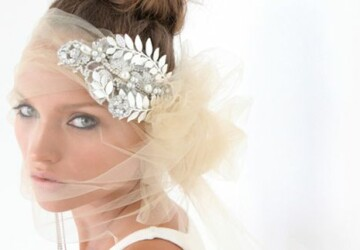 18 Bridal Headpieces For Sophisticated Brides - hair accessories, bride Veil, Bridal Headpieces For Sophisticated Brides, Bridal Headpieces, bridal accessories