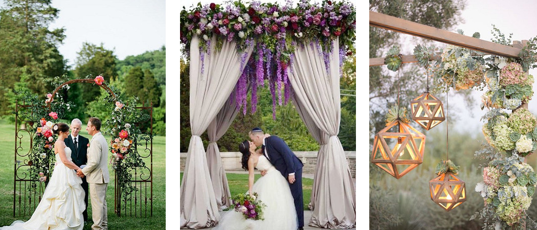 Ideas for LUXURIANT FLORAL Wedding Ceremony Arches - Style Motivation