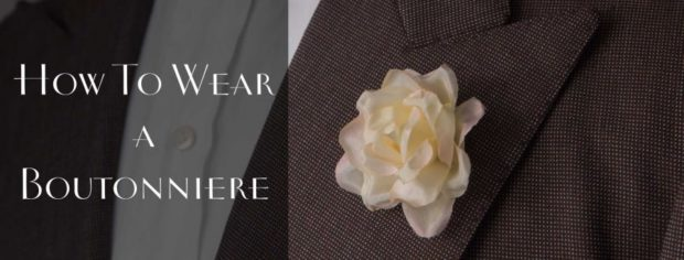 TIPS TO WEAR A LAPEL Flower | Gentleman Style
