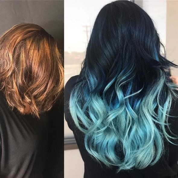 The Best and Trendiest Styles of Blue Ombre Hair Colours