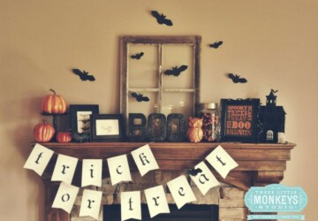13 Spooktacular Halloween Ideas for Your Fireplace Mantel - Halloween Mantel, Halloween Ideas for Your Fireplace Mantel, halloween ideas, Halloween Fireplace Mantel, halloween decor