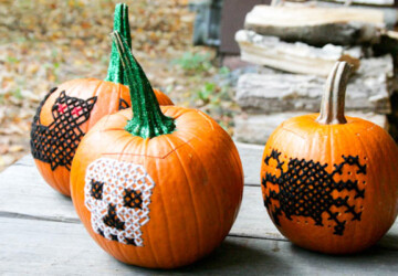 No-Carve Pumpkin Decorating Ideas - Pumpkin Decorating, No-Carve Pumpkin Decorating, No-Carve Pumpkin, DIY Pumpkin Decorating Ideas
