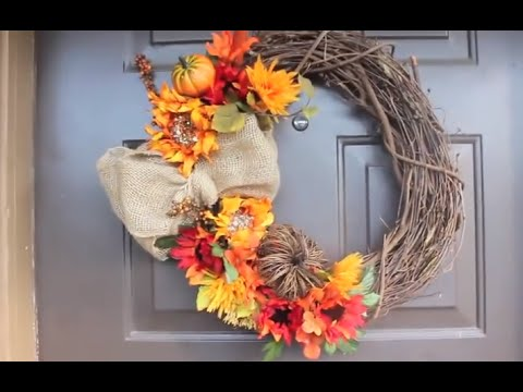 13 Cheap and Easy DIY Fall Wreaths - Style Motivation
