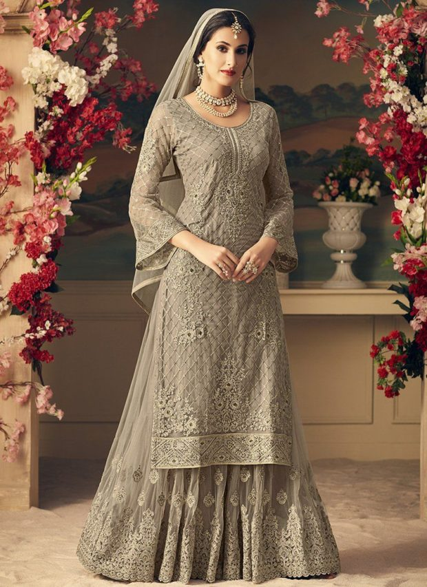 15 Mesmerizing Sharara Suits For Your Indian Wedding - woman, wedding dress, wedding, sharara suit, sharara, indian, Elegant, Dress