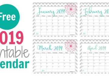 The Best 2019 Free Printable Calendar: Get Organized All Year (Part 2) - Free Printable Calendars, Free Printable Calendar, 2019 Free Printable Calendar', 2019 Free Printable