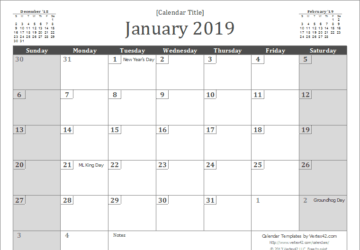 The Best 2019 Free Printable Calendar: Get Organized All Year (Part 1) - Free Printable Calendars, Free Printable Calendar, Best 2019 Free Printable Calendar