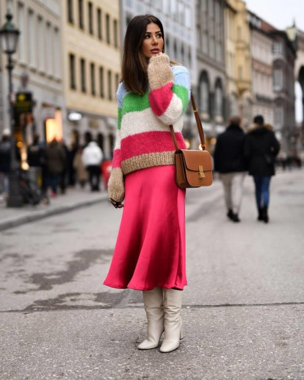 15 Different Winter Looks That Add A Pop Of Color