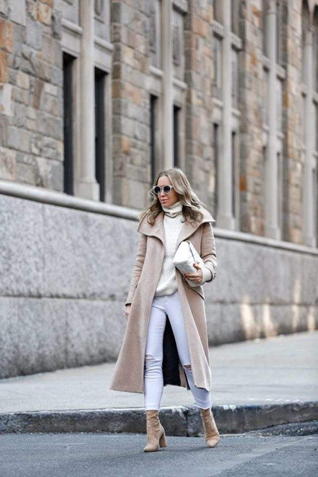 Warm and Stylish Winter Outfits in Neutral Colors