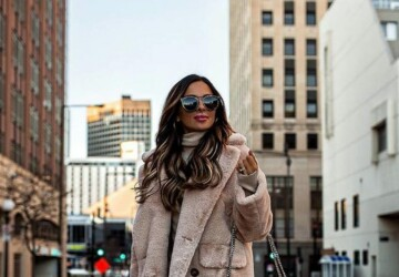 Warm and Stylish Winter Outfits in Neutral Colors - Winter Outfits in Neutral Colors, winter outfit ideas, Neutral Colors, Neutral Color winter outfits
