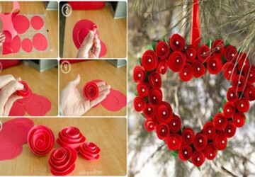 15 DIY Valentine's Day Wreaths You Can Craft (Part 2) - DIY Wreaths Ideas, DIY Valentine's Day Wreaths, diy Valentine's day wreath