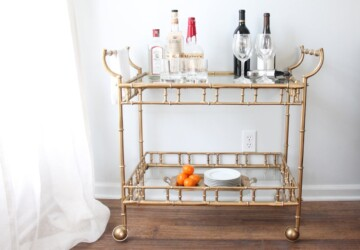 15 Inspiring DIY Bar Cart Designs And Makeovers - DIY Bars, DIY bar cart, DIY Bar