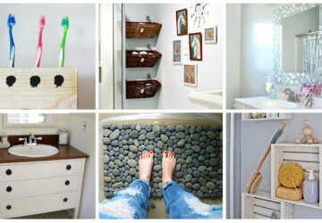 18 Cheap and Easy DIY Bathroom Ideas Anyone Can Do - small bathroom ideas, DIY Bathroom Ideas, DIY Bathroom Idea, bathroom ideas