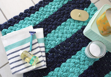 15 DIY Bath Mats To Restyle Your Bathroom - DIY Bathroom, DIY Bath Mats, DIY Bath Mat