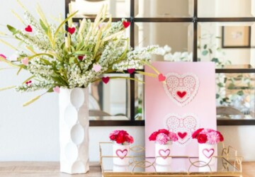 15 Sweet and Simple DIY Valentine's Day Decorations - diy Valentine's day decorations, DIY Valentine's Day Decor, DIY Valentine's Day Crafts, diy Valentine's day