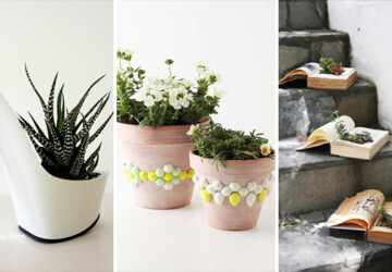 12 Perfect DIY Planter Ideas You Can Use Anywhere In Your Home - Succulent, Plants, Planter, houseplant, home, Flower, diy, decorations, decor, crafts, crafting