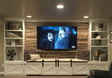 DIY Entertainment Center Ideas and Designs For Your New Home - DIY living room, DIY ideas, DIY Entertainment Center Ideas, DIY Entertainment Center