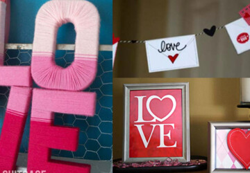 20 Sweet and Simple DIY Valentine's Day Decorations - diy Valentine's day decorations, DIY Valentine's Day Decoration, DIY Valentine's Day Decor, diy Valentine's day