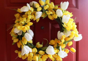 15 Pretty DIY Spring Wreaths - DIY Wreaths Ideas, diy wreath, DIY Spring Wreaths, diy spring wreath, diy spring home decor