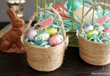 15 Cute Homemade Easter Basket Ideas (Part 1) - Easter Basket Ideas, Easter Basket Idea, Easter Basket, DIY Easter Egg Decor Ideas, DIY Easter Decoration, diy Easter