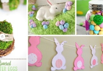 15 Fabulous Easter Decorations You Can Make Yourself - diy Easter decorations, DIY Easter Decoration, DIY Easter Decor Projects, diy Easter