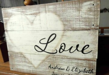 Sweet and Rustic DIY LOVE Wood Signs - Rustic DIY Wood Signs, Rustic DIY LOVE Wood Signs, DIY Wood Signs, DIY Wood Craft Projects, DIY Rustic Wooden decor, DIY Rustic Projects, DIY LOVE Wood Signs