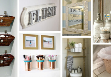 15 Cheap and Easy DIY Bathroom Ideas - DIY Bathroom Storage ideas, diy bathroom storage, DIY Bathroom Ideas, DIY Bathroom
