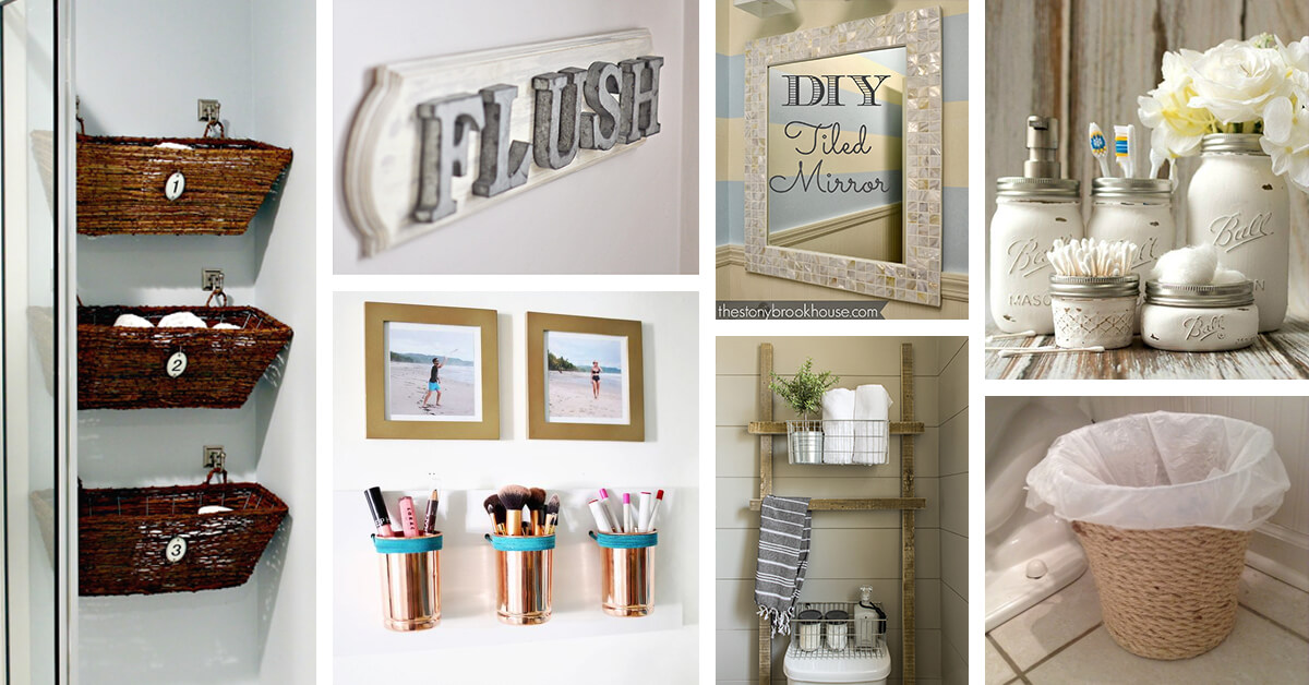 15 Cheap and Easy DIY Bathroom Ideas - Style Motivation
