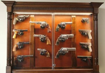 The Perfect Home for a Firearms Instructor - home, furniture, Firearm Display Cases