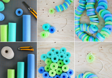 13 Creative Pool Noodle Crafts - Pool Noodle diy, Pool Noodle Crafts, Pool Noodle, diy crafts